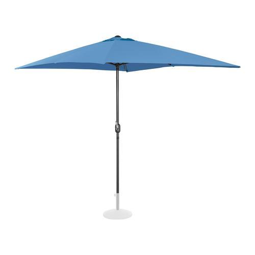 Uniprodo Sonnenschirm groß - blau - rechteckig - 200 x 300 cm