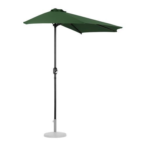 Uniprodo Halber Sonnenschirm - Grün - fünfeckig - 270 x 135 cm