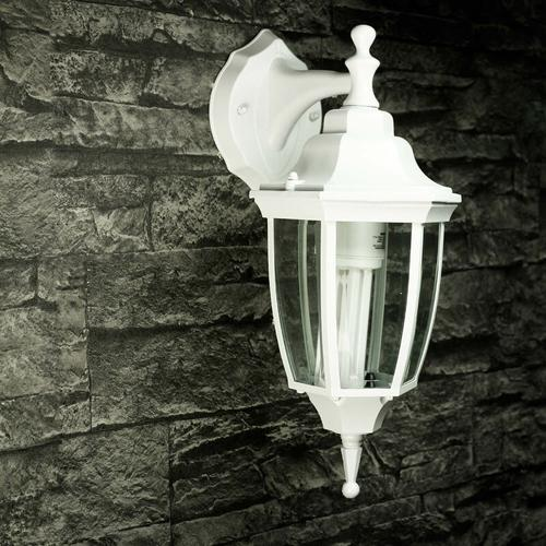 Licht-erlebnisse - Rustikale Außenleuchte LYON Aluminium Glas Laterne IP44