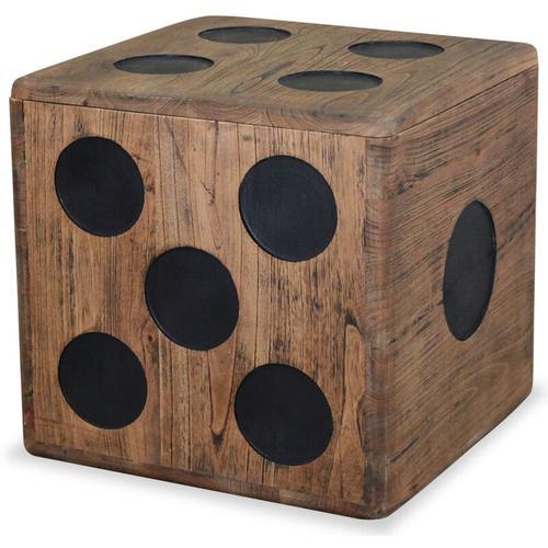 Vidaxl - Aufbewahrungskiste Mindi-Holz 40 x 40 x 40 cm Würfel-Design