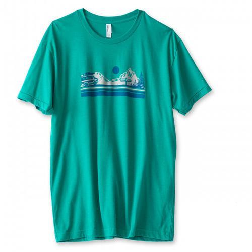 KAVU - Vanishing Point - T-Shirt Gr M;S türkis