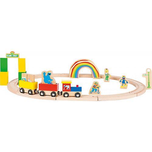 Sesamstrasse Holzeisenbahn bunt