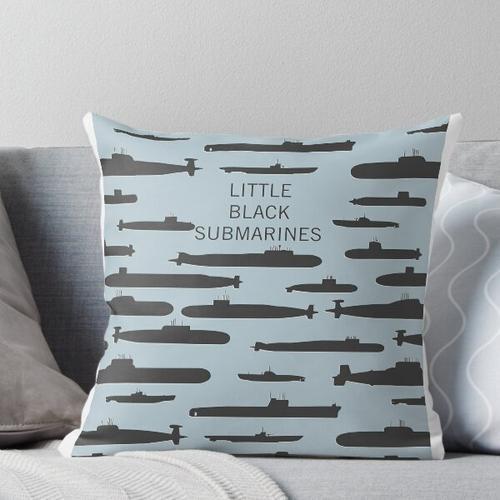 Kleine schwarze U-Boote Kissen