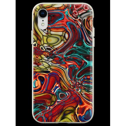 Abstrakte Glasfliese Flexible Hülle für iPhone XR