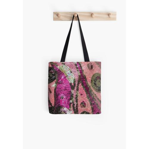 Pink und Gold Pailletten Tasche