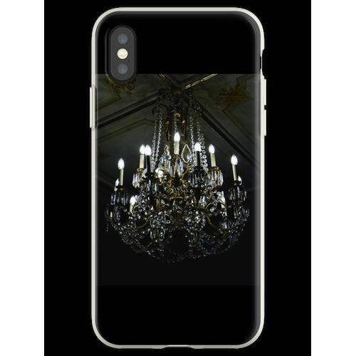 Französischer Noir Kronleuchter Flexible Hülle für iPhone XS