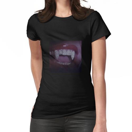Diamant-Grill-Reißzähne-Mädchen Frauen T-Shirt
