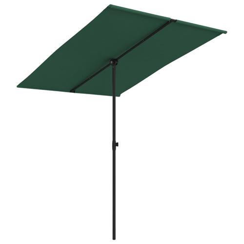 vidaXL Sonnenschirm mit Aluminium-Mast 2x1,5 m Grün