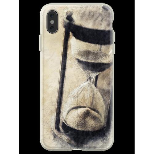 Vintage Sanduhr, Sanduhr, Sanduhr, Sanduhr, Sanduhr, Geschenk für Flexible Hülle für iPhone XS Max