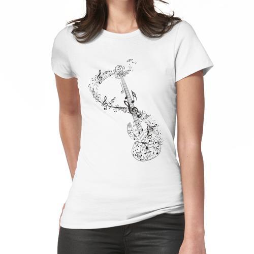 Gitarre und Musiknoten Frauen T-Shirt