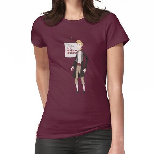 Feine Lederjacken Frauen T-Shirt