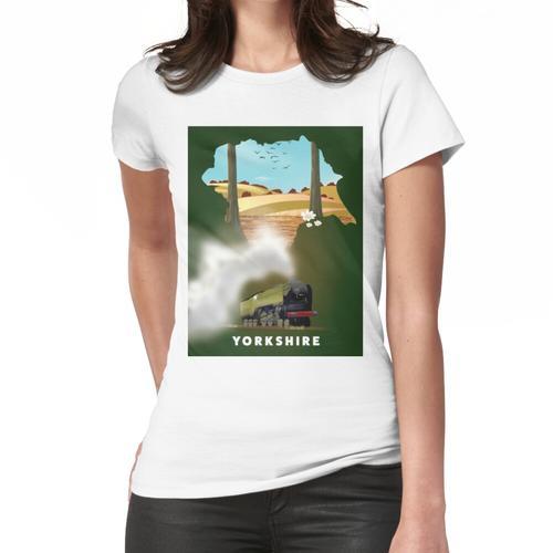 Yorkshire-Eisenbahnplakat Frauen T-Shirt