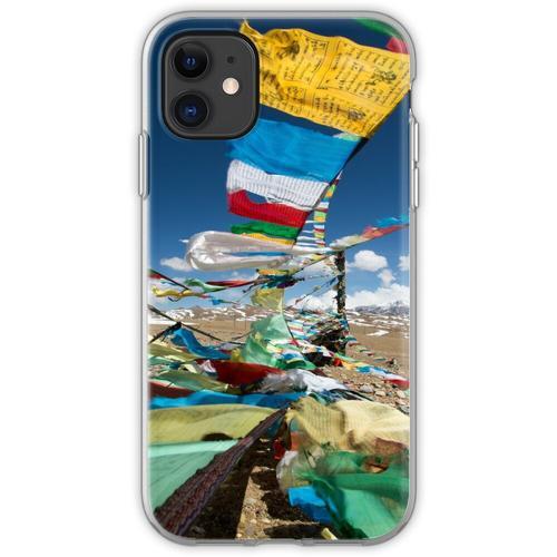 Betende Fahnen in Tibet Flexible Hülle für iPhone 11
