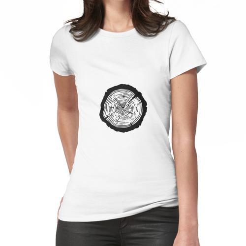 Tree Ring - Holz Scheibe Ornament, Baumscheibe Frauen T-Shirt