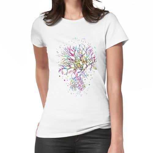 Anatomisches Herz, Baumherz, Baum wurzelte, Baum wurzelte mit Innerem Frauen T-Shirt