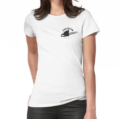 Kettensäge, die Symbol schnitzt Frauen T-Shirt