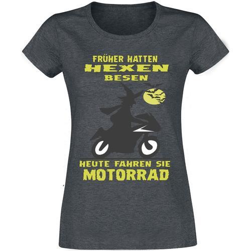 Früher hatten Hexen Besen Damen-T-Shirt - dunkelgrau