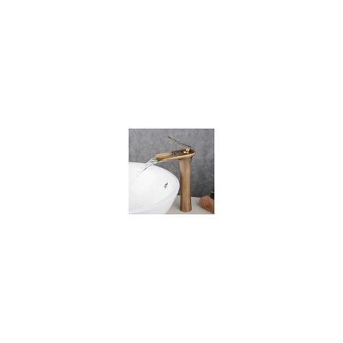 Hqb ® - Armatur für Waschbecken, antikes Messing, hoch, Waschtischarmatur