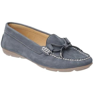 Maggie Womens Moccasin Shoes Women's Loafers / Casual Shoes In Blue - Blue - Hush Puppies Flats