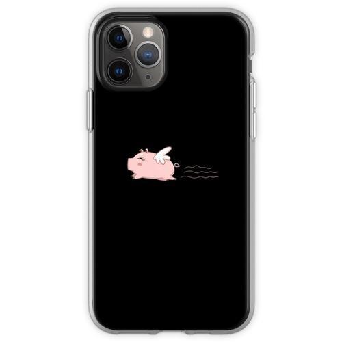 Fliegen-Schwein-T-Shirt Schwein-Hemd-Schwein-T-Shirt Lustiges Hemd Flexible Hülle für iPhone 11 Pro