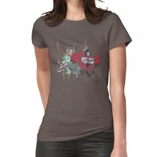 der Strahl und das Mikroskop Frauen T-Shirt