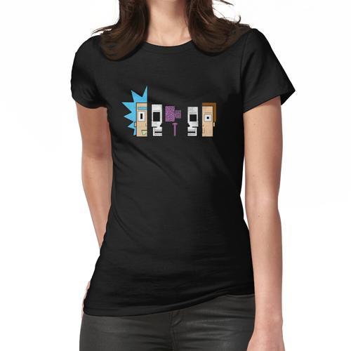 Rick und Morty | Retro Querschnitt Frauen T-Shirt