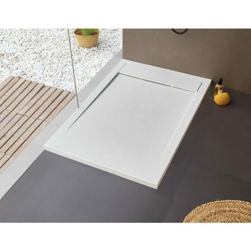 BB NEW YORK Rechteckige Duschwanne 160 x 90 x 2,5 cm weiß