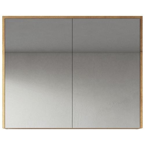 Spiegelschrank Cuba 80cm Eiche - Schrank Spiegelschrank Spiegel Badezimmer Badmöbel Set