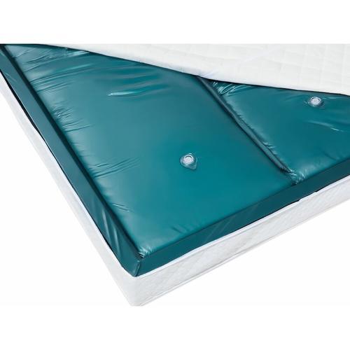 Wasserbettmatratze Blau Vinyl 160 x 200 cm Dual System Stark beruhigt Mittelfest zwei Wasserkerne