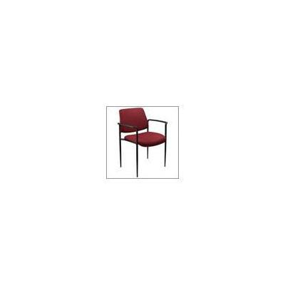Boss Office Products Stackable Chair with Tapered Legs - Black Fabric