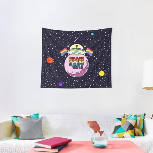Space Is Gay Wall Tapestry