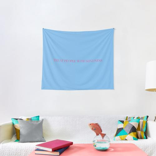 blue and pink tpwk long Wall Tapestry