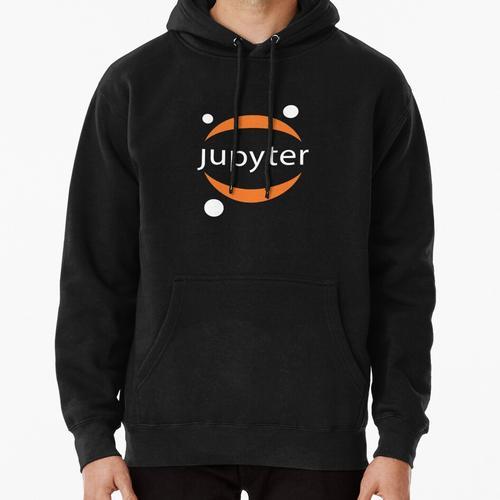 Jupyter white logo Pullover Hoodie