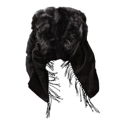 Alba Moda, Poncho für kalte Tage, schwarz