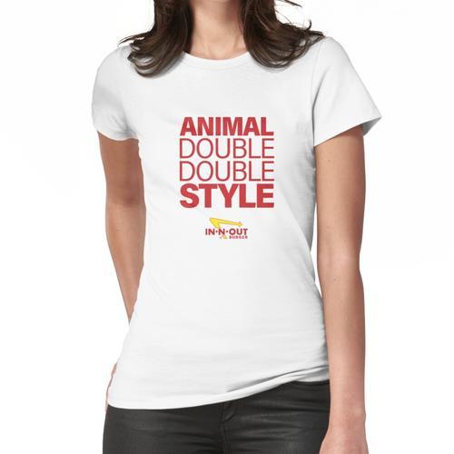 Doppelter doppelter Tierstil Frauen T-Shirt