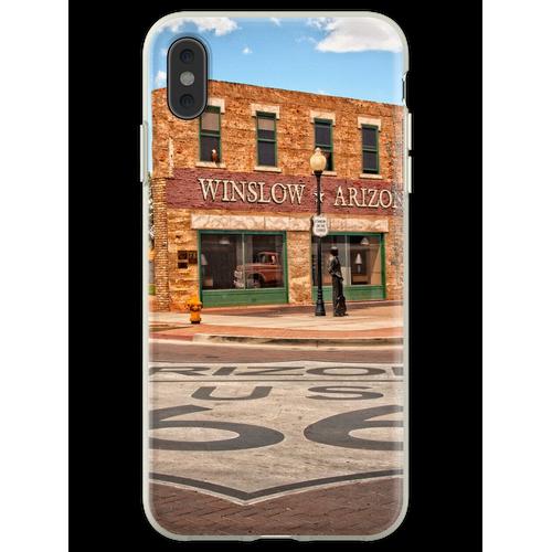 Flachbett Ford und Winslow Route 66 Flexible Hülle für iPhone XS Max