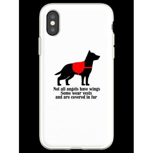 Service-Hundeengel Flexible Hülle für iPhone XS