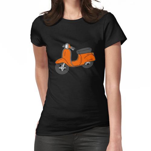 Roller Motorroller Retro Orange Frauen T-Shirt