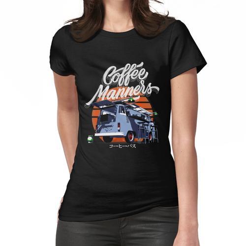 Kaffee-Manieren der Kaffee-Bus Frauen T-Shirt
