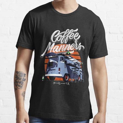 Kaffee-Manieren der Kaffee-Bus Essential T-Shirt