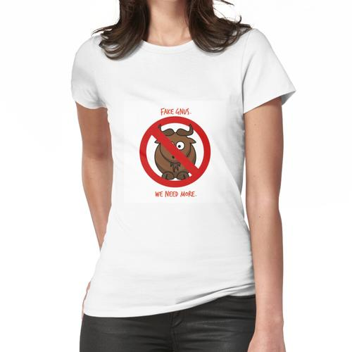 Gefälschter Gnus Frauen T-Shirt