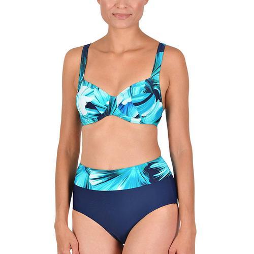 Bügel Bikini Naturana marine-smaragd-weiß