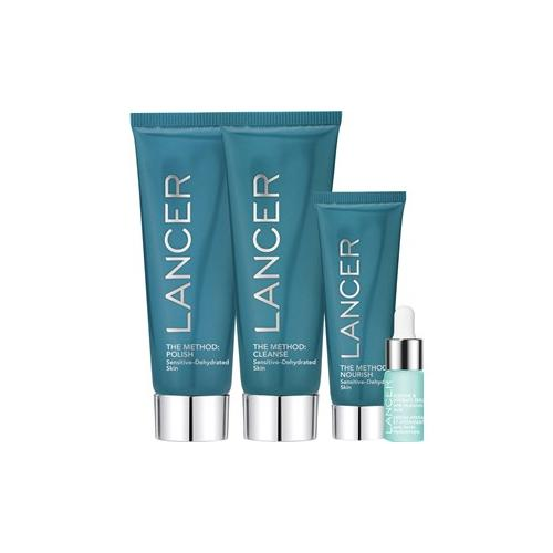 Lancer Pflege The Method: Face Sensitive-Dehydrated Set The Method: Polish 60 ml + The Method: Cleanse 60 ml + The Method: Nourish 22 ml + Soothe & Hydrate Serum 4,4 ml + Beauty Bag 1 Stk.