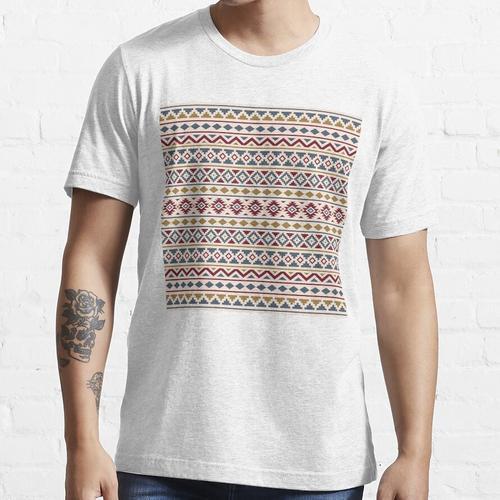 Aztec Essence Muster II Rot Blau Gold Creme Essential T-Shirt