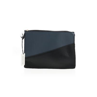 Who What Wear Clutch: Blue Solid Bags
