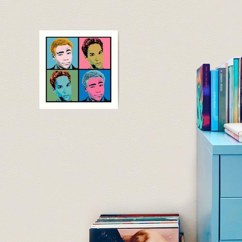 Troy and Abed Warhol Kunstdruck