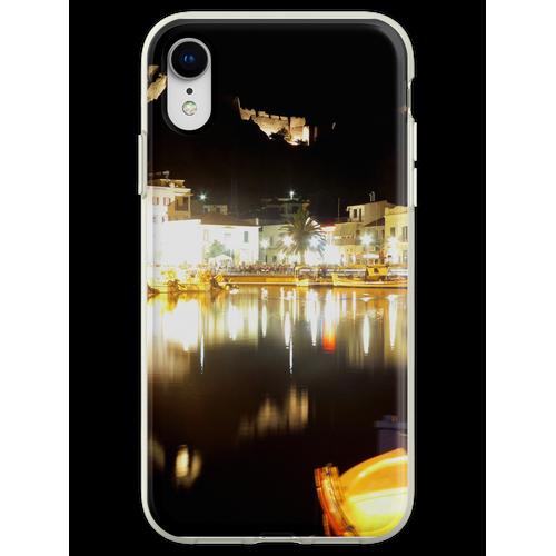 Limnos in der Nacht Flexible Hülle für iPhone XR