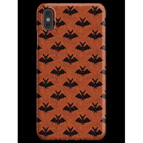 Fledermäuse Fledermäuse Fledermäuse (orange) iPhone XS Max Handyhülle