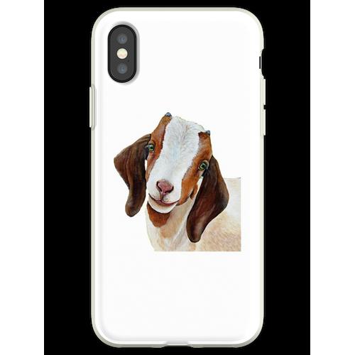 Zwergziege - Zwergziege Malerei - Ziege - Ziege Malerei - Zwergziege Sh Flexible Hülle für iPhone XS