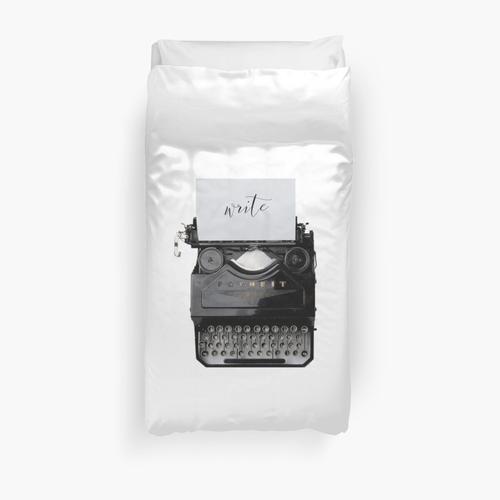 Writers typewriter Duvet Cover